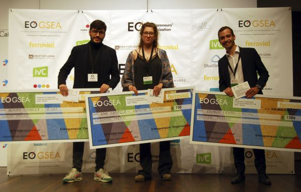3 LEINNErs ganan la final nacional de los Global Student Entrepreneur Awards 2019